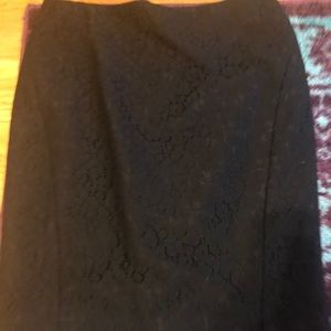 The Limited black lace pencil skirt size 8 NWT